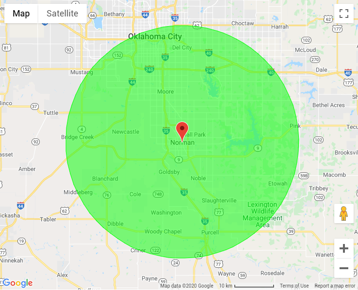 Norman, OK Map