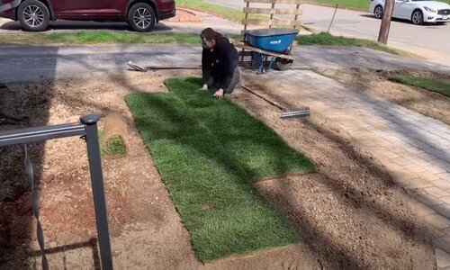 Norman Landscaping laying grass