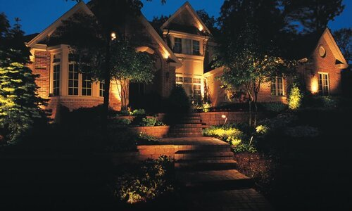 Norman Landscaping lighting project